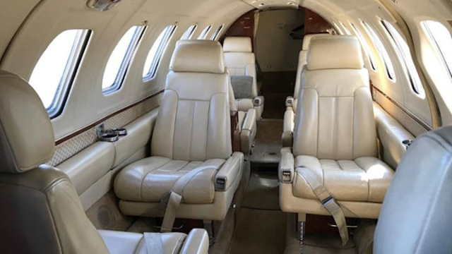 салон бизнес джета Cessna Citation II
