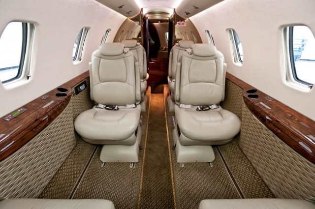 салон бизнес джета Cessna Citation XLS